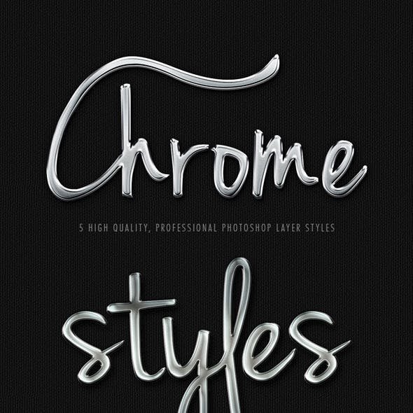 5 Realistic Pro Chrome Layer Styles