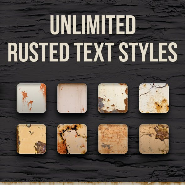 Rusted Text Styles - Unlimited