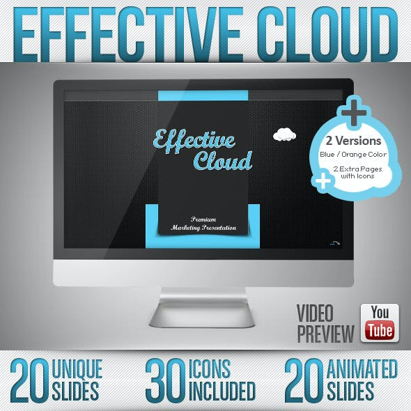 Effective Cloud - Powerpoint / Full HD / 2 Colors