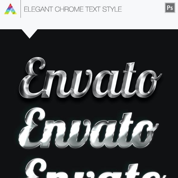 Chrome Text Style