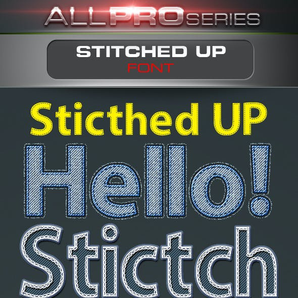 Stitched UP Font