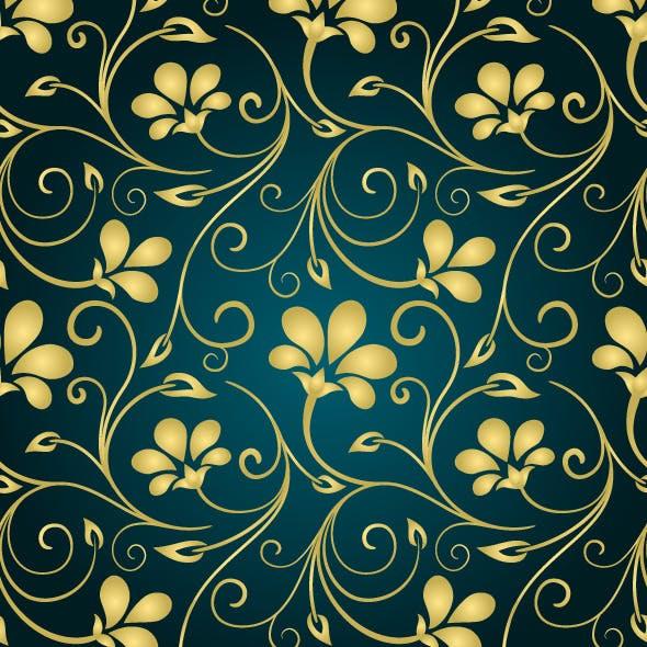 Golden Swirls Pattern