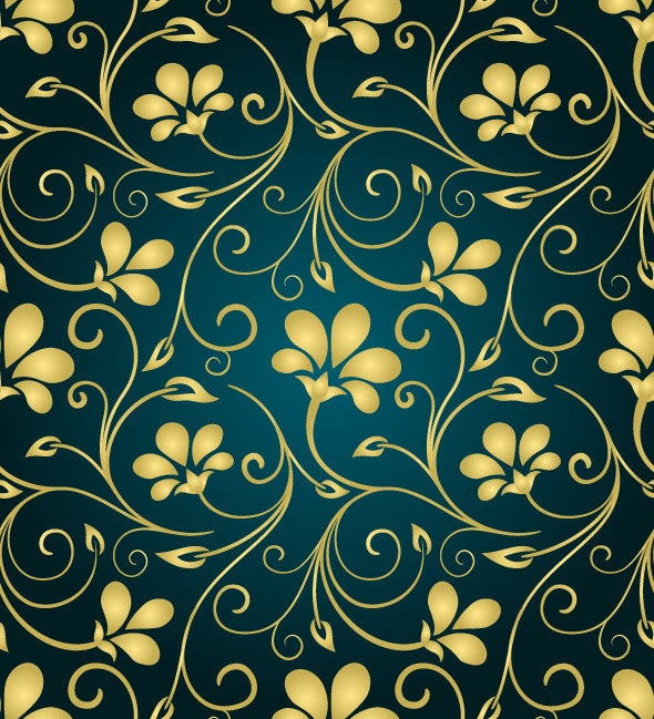 Golden Swirls Pattern - Artistic Textures / Fills / Patterns