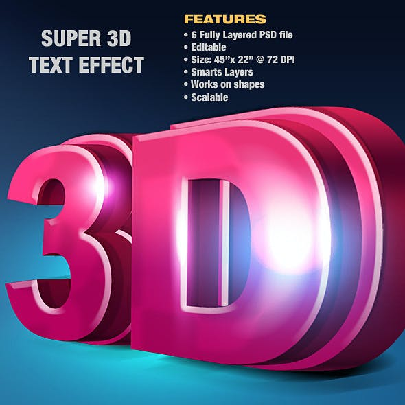 Super 3D Text Effect