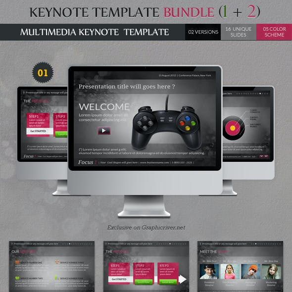 Keynote Templates Bundle (1 + 2)