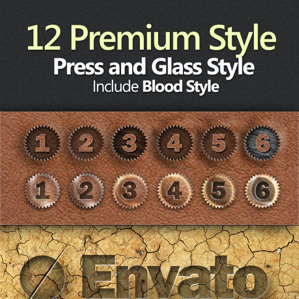 12 Premium Styles : Press & Glass Styles