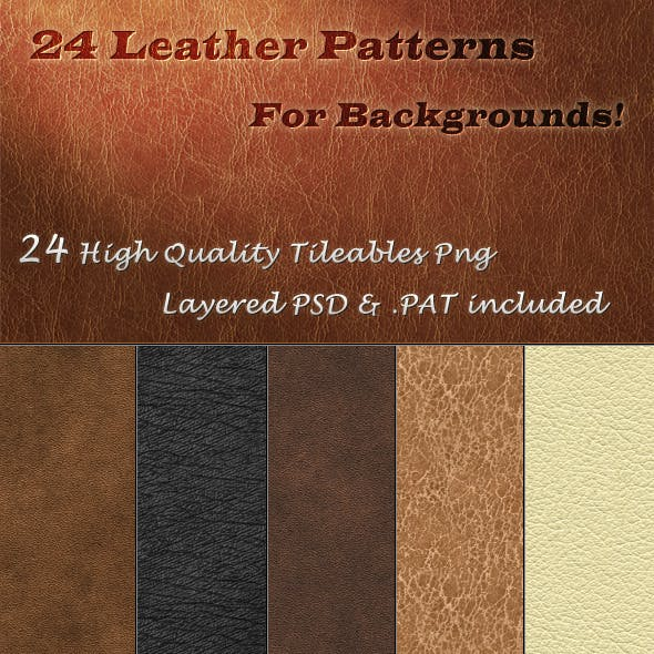 24 Tileable Leather Textures