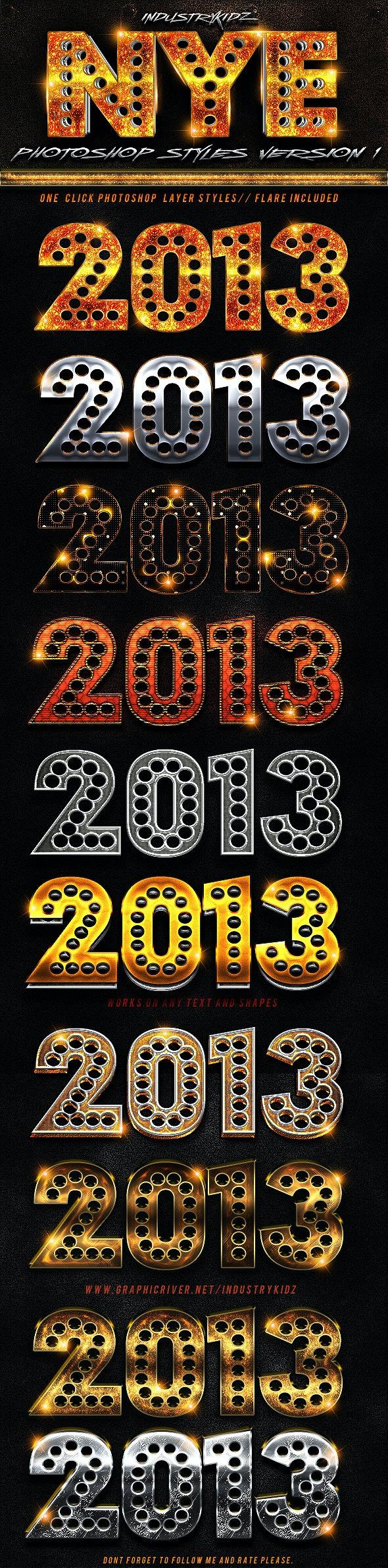New Year Photoshop Styles  - Styles Photoshop