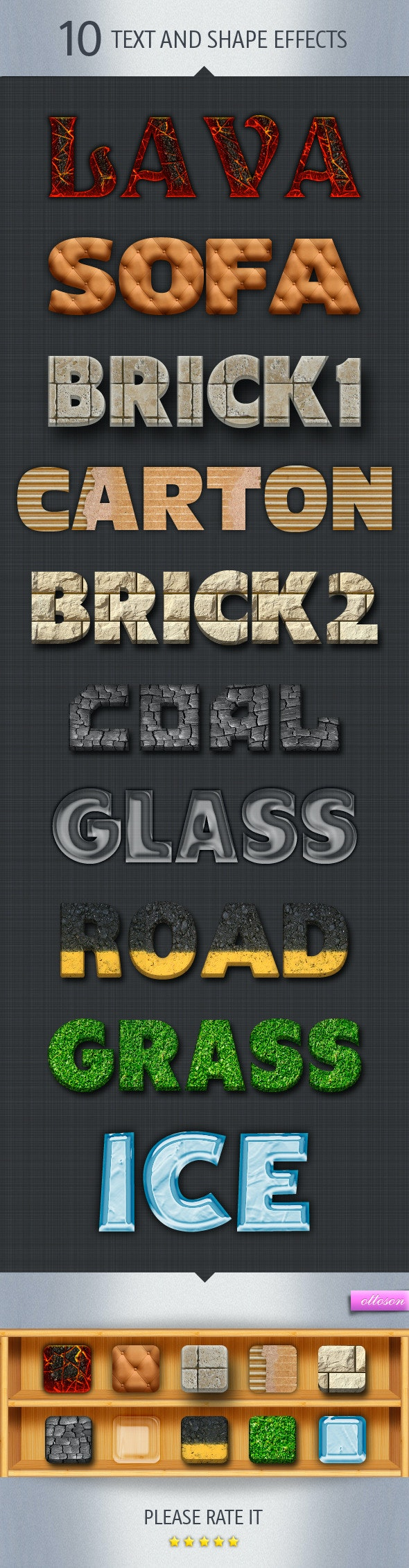 10 Text and Shape Effects - Text Effects Styles