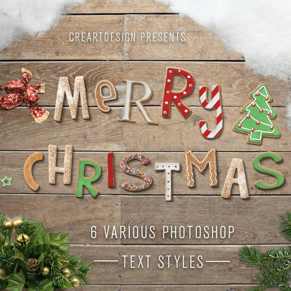 Christmas Text Effects And Styles for Photoshop