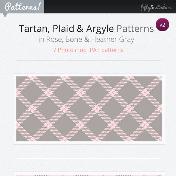 7 Tartan, Plaid & Argyle Patterns - v2