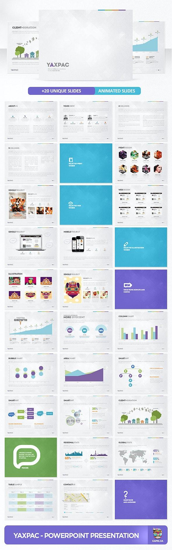 Yaxpac PowerPoint Presentation Template - PowerPoint Templates Presentation Templates
