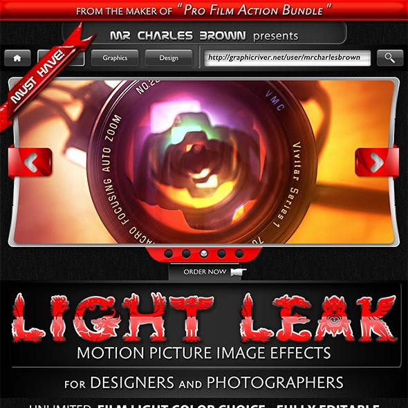 Motion Picture Light Leak Effects