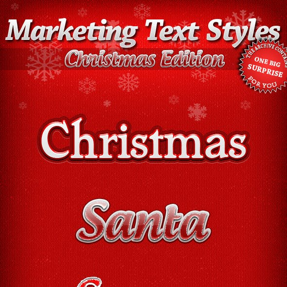 Marketing Text Styles - Christmas Edition