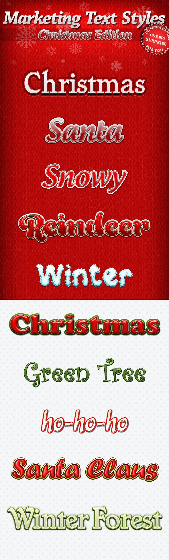 Marketing Text Styles - Christmas Edition - Text Effects Styles