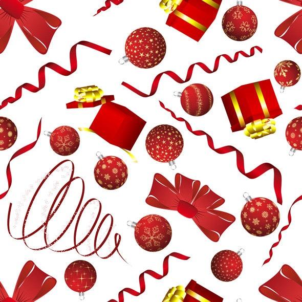 Christmas Seamless Pattern - Textures / Fills / Patterns Illustrator