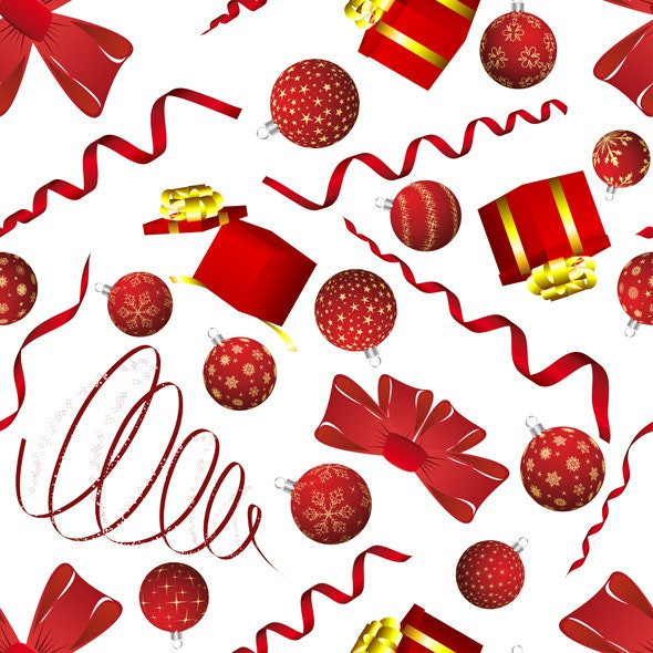 Christmas Seamless Pattern - Textures / Fills / Patterns Illustrator