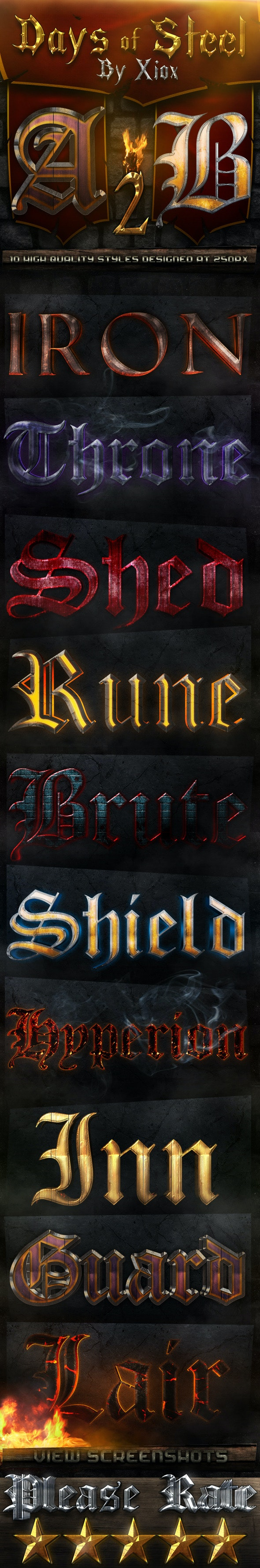 Days of Steel -Style Pack 2- - Text Effects Styles