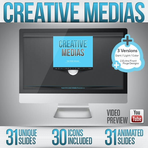 Creative Media - Powerpoint Dark & Light / Full HD