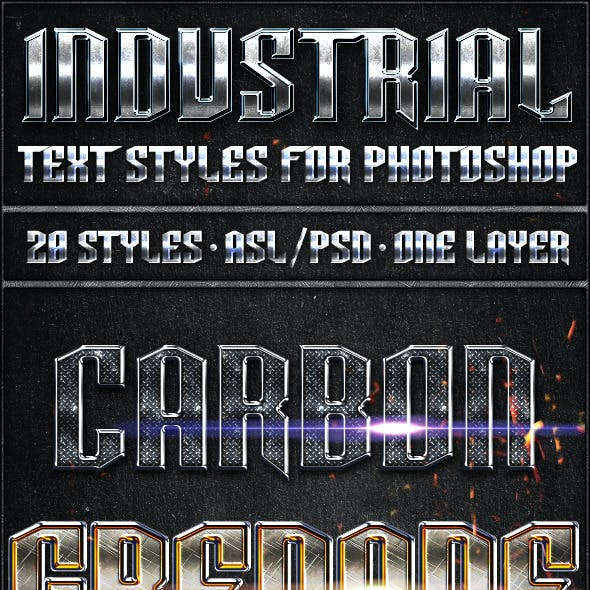 Industrial Pack - Text Styles