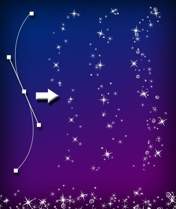 Magic Sparkle Layered Brush Set - Brushes Illustrator