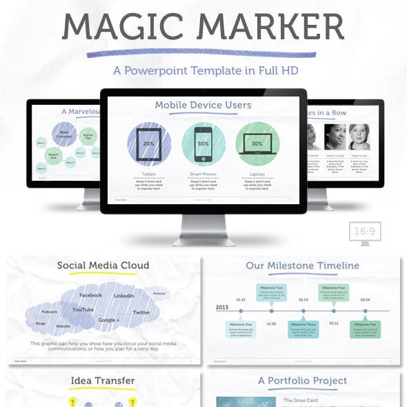 Magic Marker Powerpoint Template