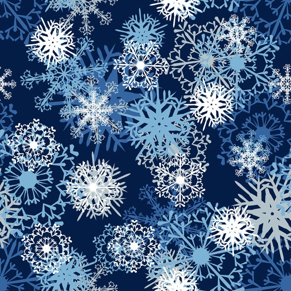 Seamless Snowflake Pattern - Nature Textures / Fills / Patterns