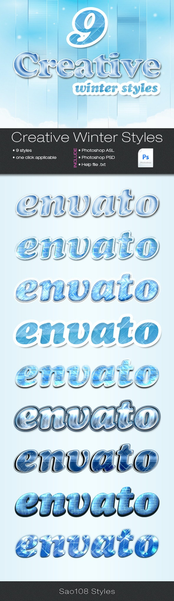 9 winter styles - Text Effects Styles