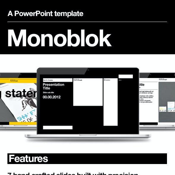 Monoblok PowerPoint Presentation