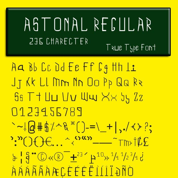 Astonal Regular