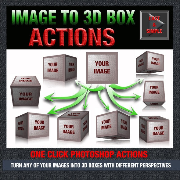 Image to 3D Box - Photo Effects Actions