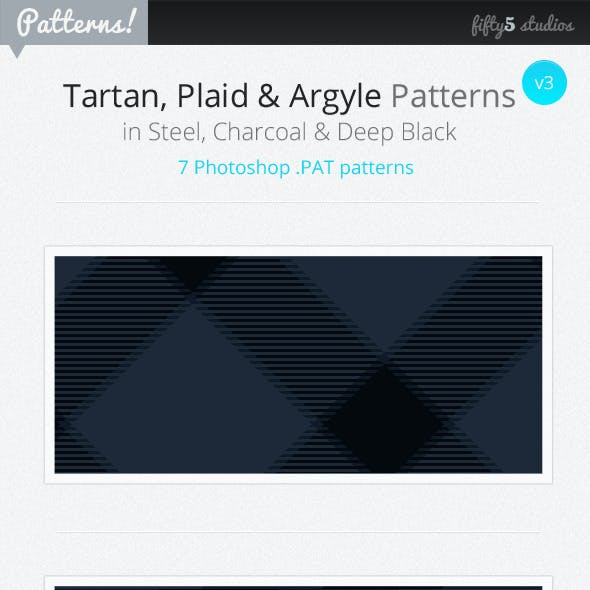 7 Tartan, Plaid & Arglye Patterns v3