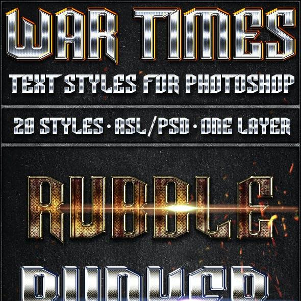 War Times - Text Styles