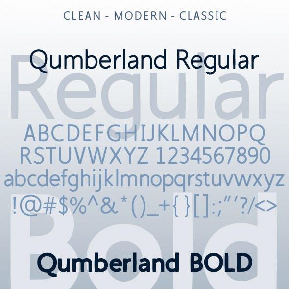 Qumberland Regular & Bold Modern Clean Font