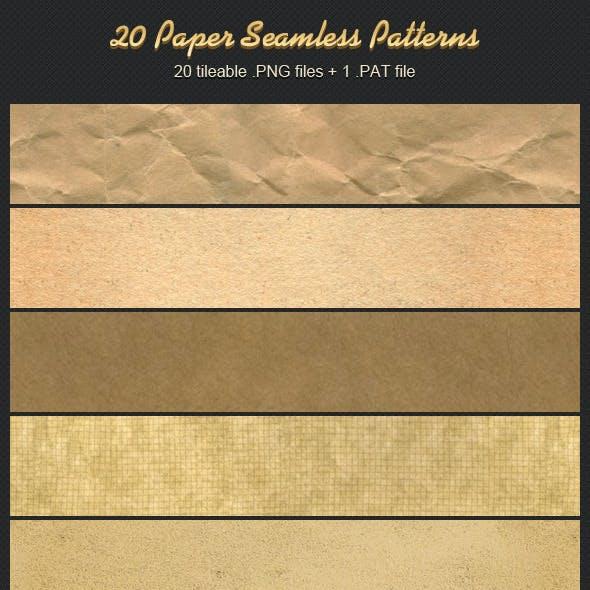20 Paper Seamless Patterns