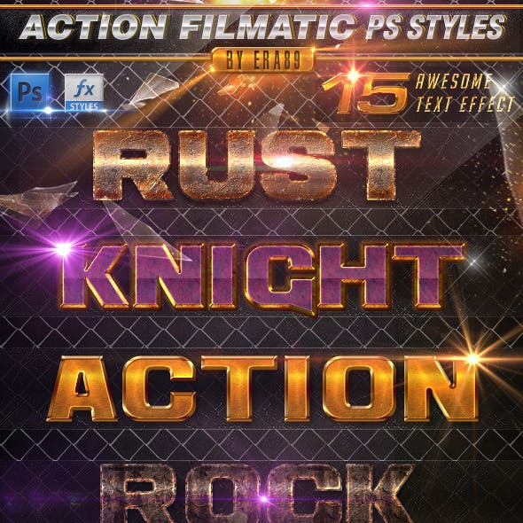 Action Filmatic Text Effects - PS Styles