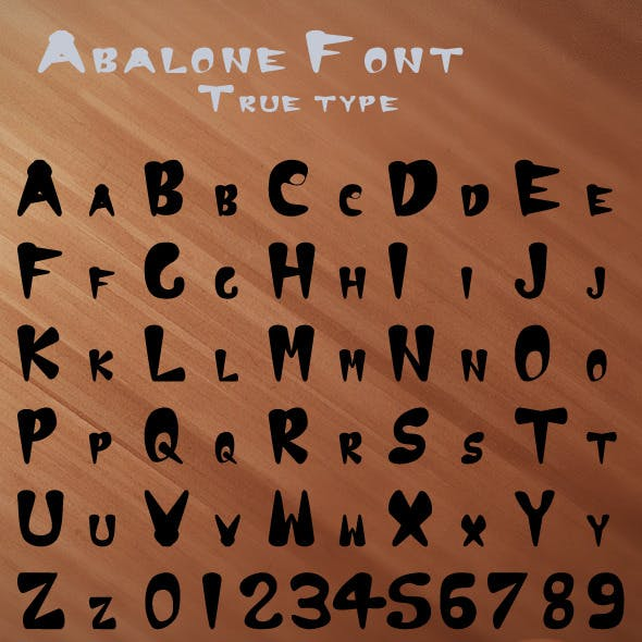 Abalone True Type Font