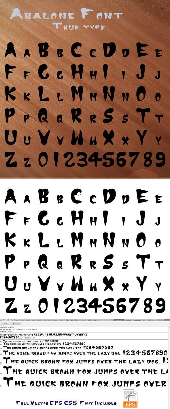 Abalone True Type Font - Graffiti Fonts