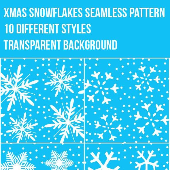 Xmas Snowflakes Seamless Pattern