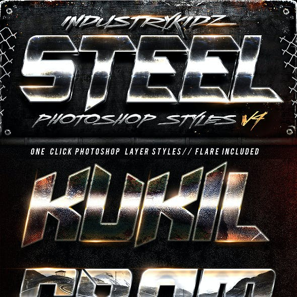 Steel Photoshop Layers Styles V4
