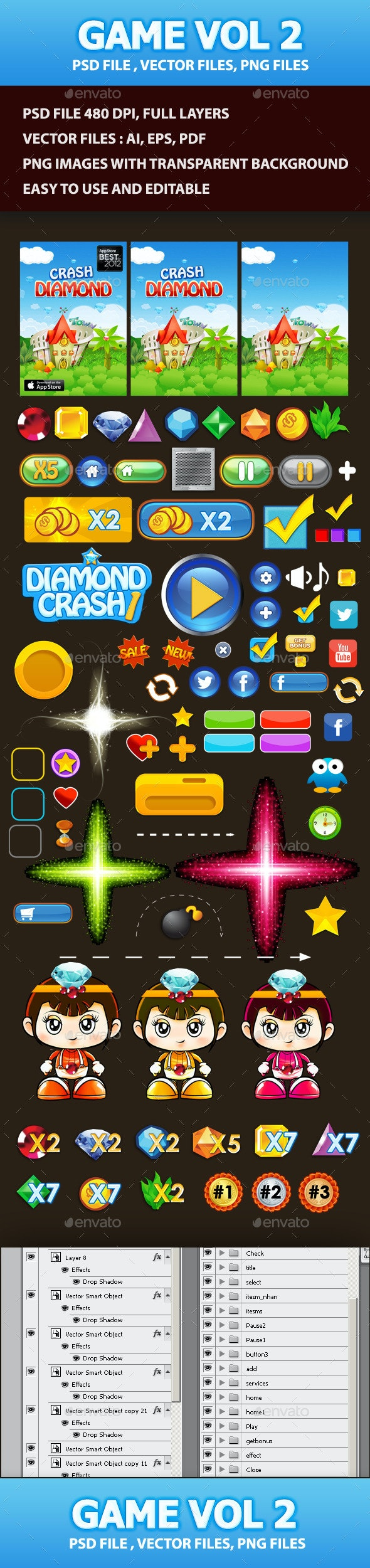 Game Elements Vol 2 - User Interfaces Game Assets