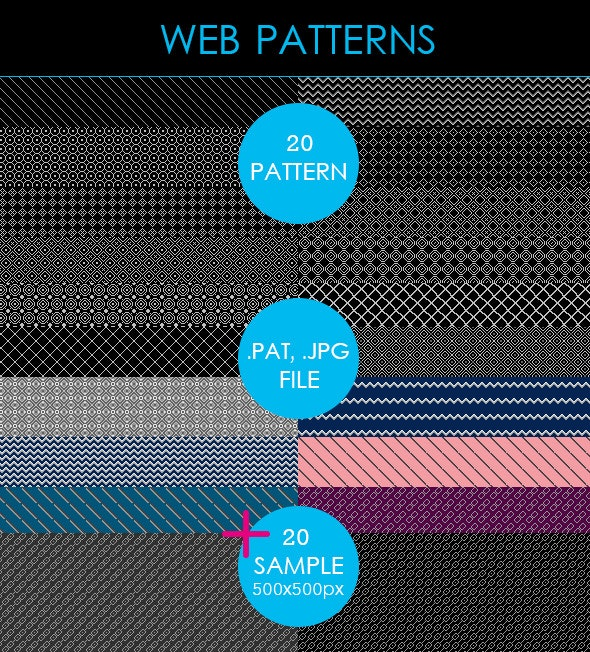 Web Patterns - Miscellaneous Textures / Fills / Patterns