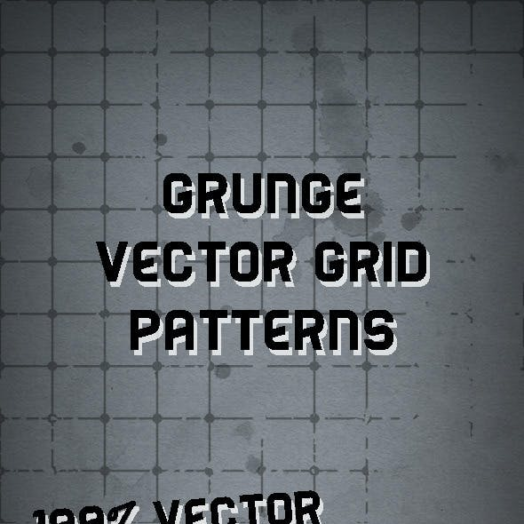 15 Illustrator Vector Grunge Grid Patterns