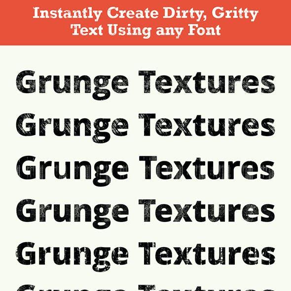 Pro Grunge Text - grunge textures