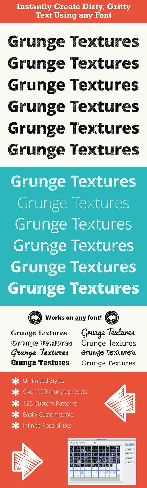 Pro Grunge Text - grunge textures - Urban Textures / Fills / Patterns