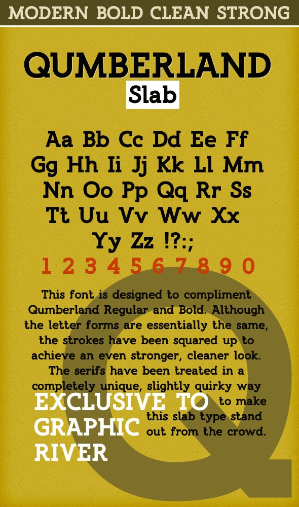 Qumberland Slab - Clean Strong Bold Font - Serif Fonts