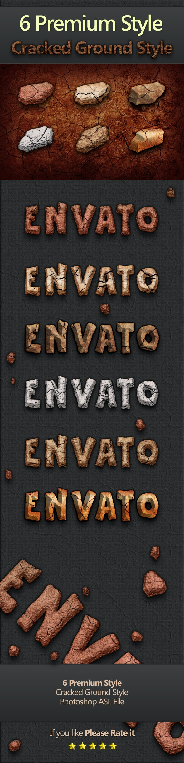 6 Premium Style : Cracked Ground Style - Text Effects Styles