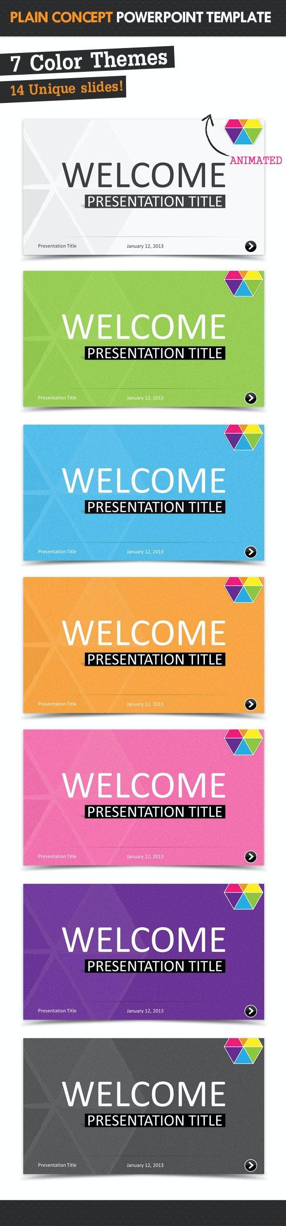 Plain Concept Powerpoint Template - PowerPoint Templates Presentation Templates