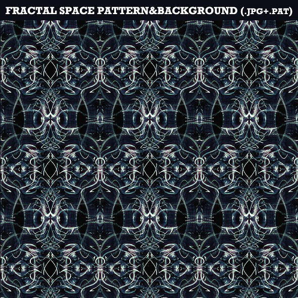 Fractal Space Background&Pattern