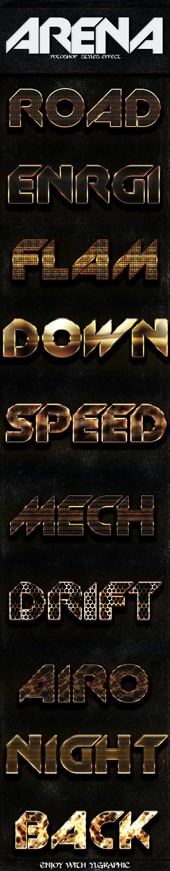 Arena Photoshop FX - Text Effects Styles